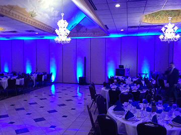 Blue Uplighting at Andiamo's in Warren, MI