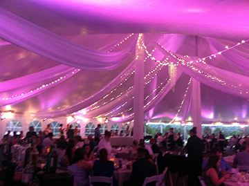 Gorgeous Pink tent Uplighting