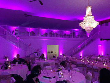 Purple Uplighting at Colonial Valley Suites in Davison, MI